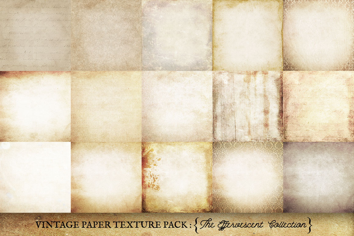 Vintage Paper Textures Effervescent Collection example image 2