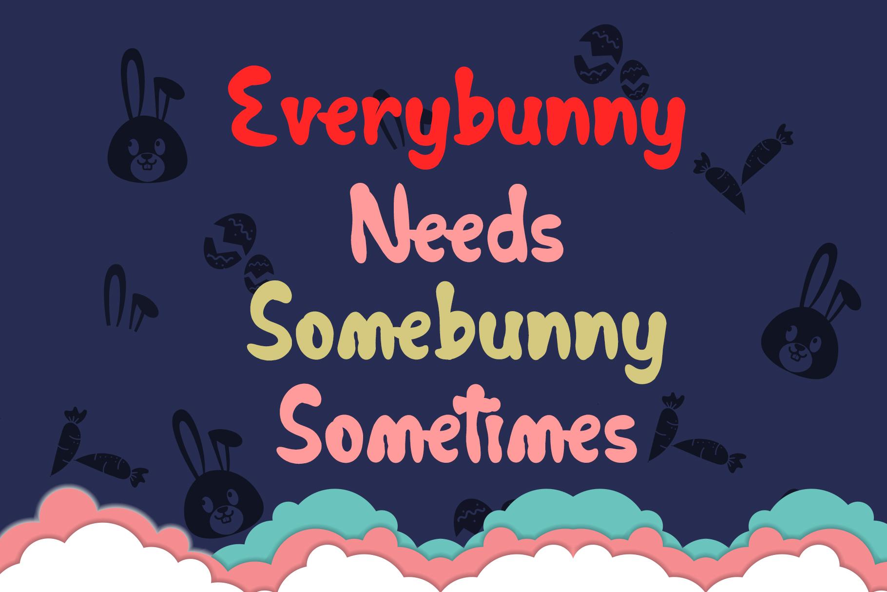 Cutie Bunnie - Fun Font example image 2