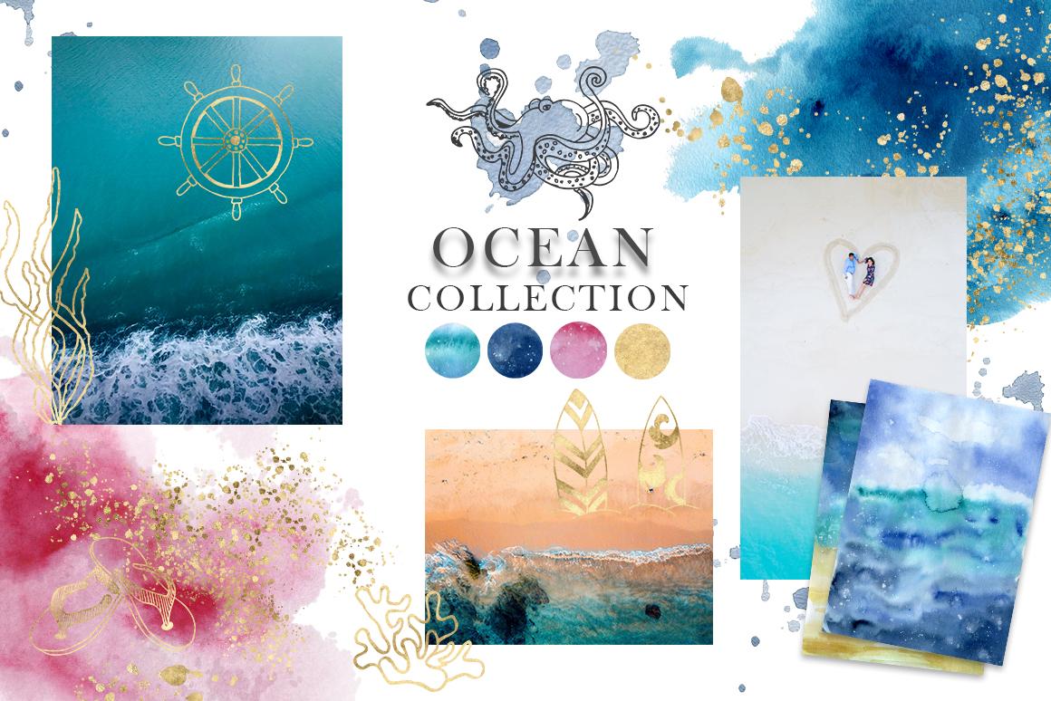 Ocean watercolor collection example image 3