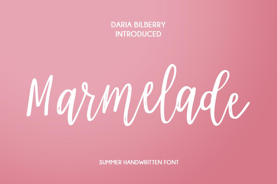 Marmelade summer font example image 1
