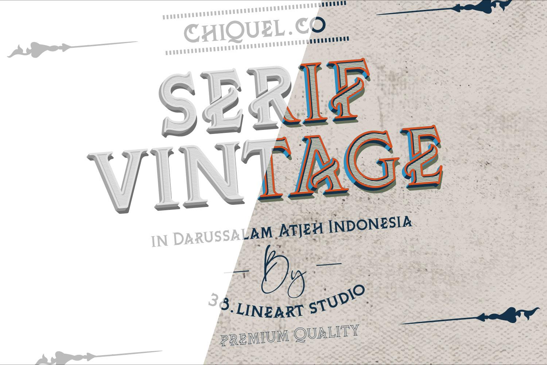 ChiQuel Serif Vintage example image 4