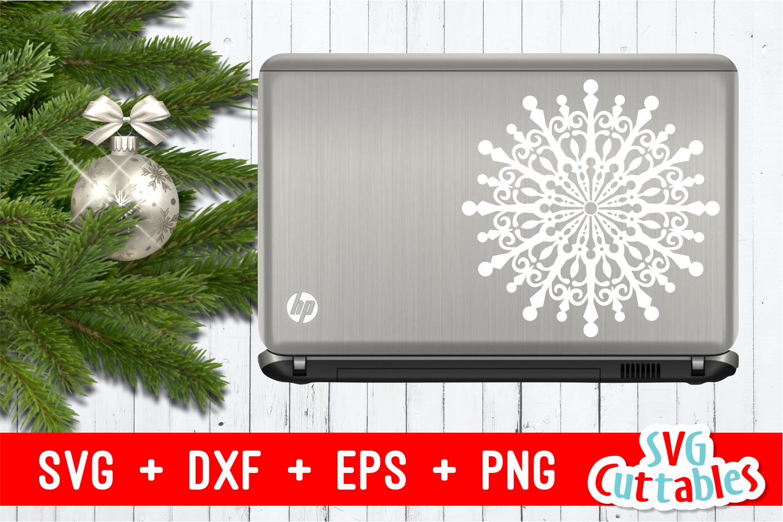 Snowflake Mandala | Christmas Cut File example image 2
