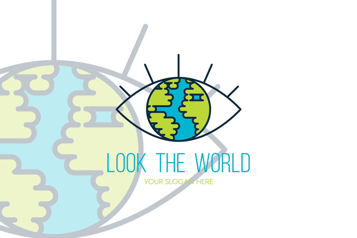 Look The World Logo Template example image 1
