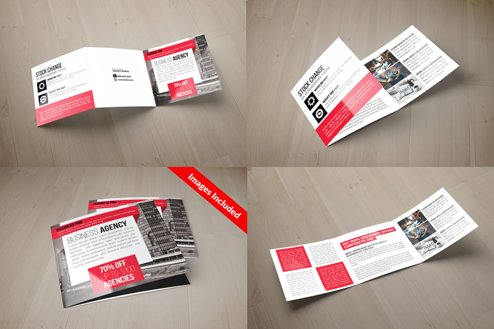 25 Square Trifold Business Brochures Bundle example image 25
