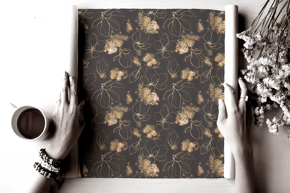 Snakes and Flowers. Pattern collection. example image 6