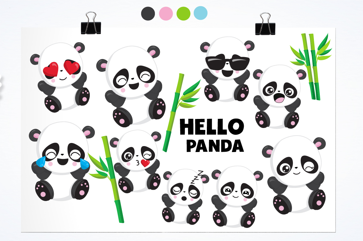 Panda friends graphics and illustrations example image 2