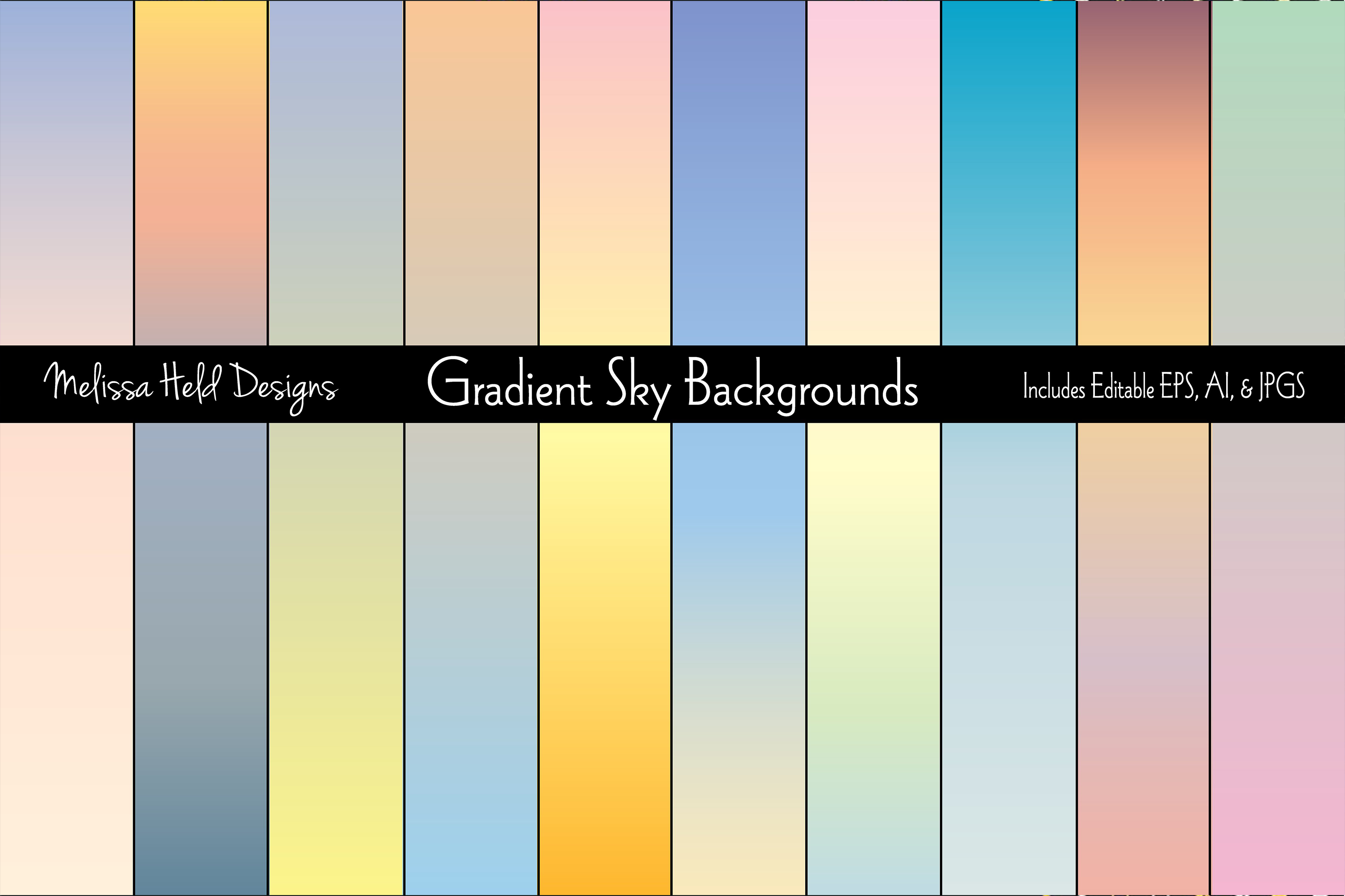 Gradient Sky Backgrounds example image 1