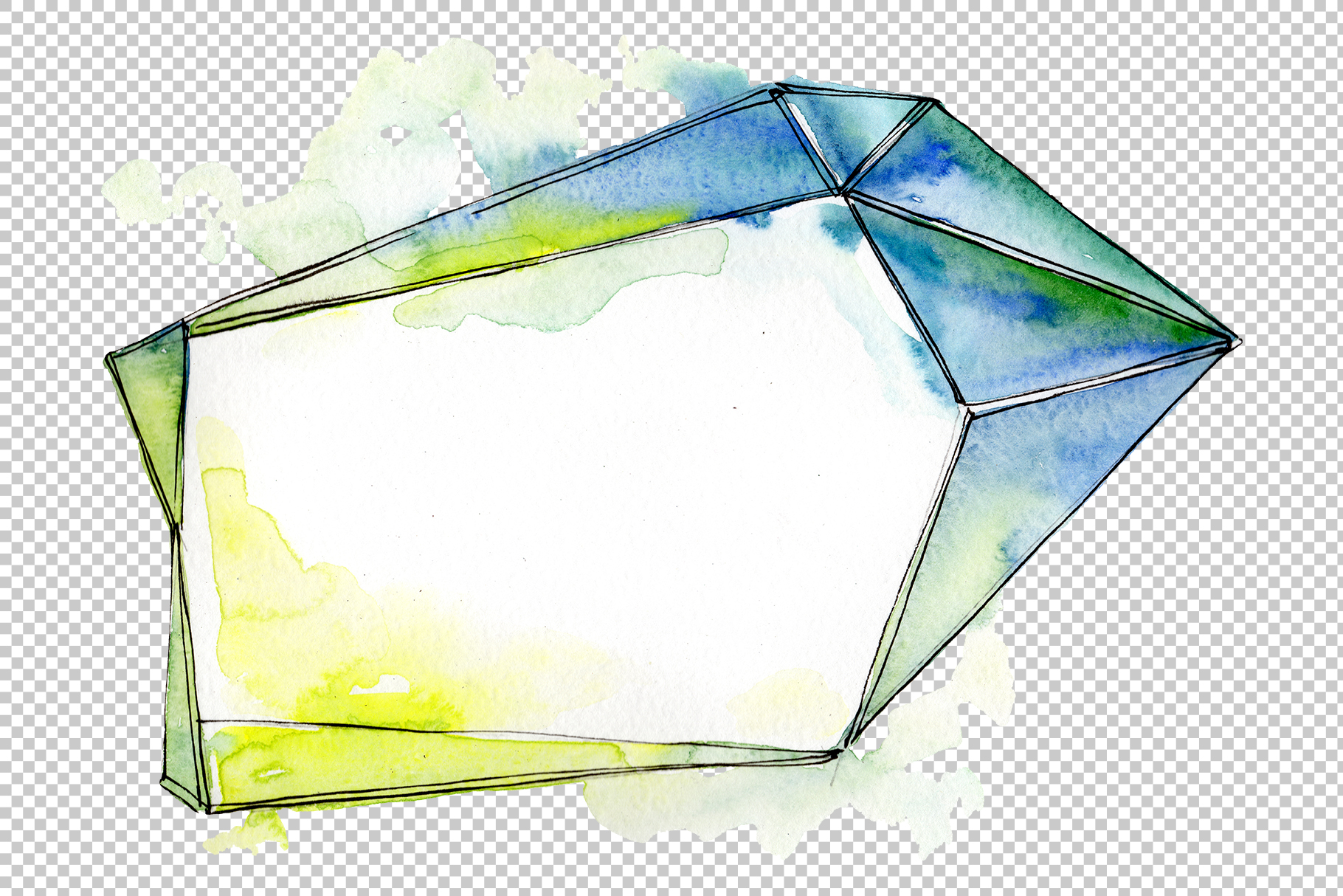 Tourmaline crystals Watercolor png example image 3