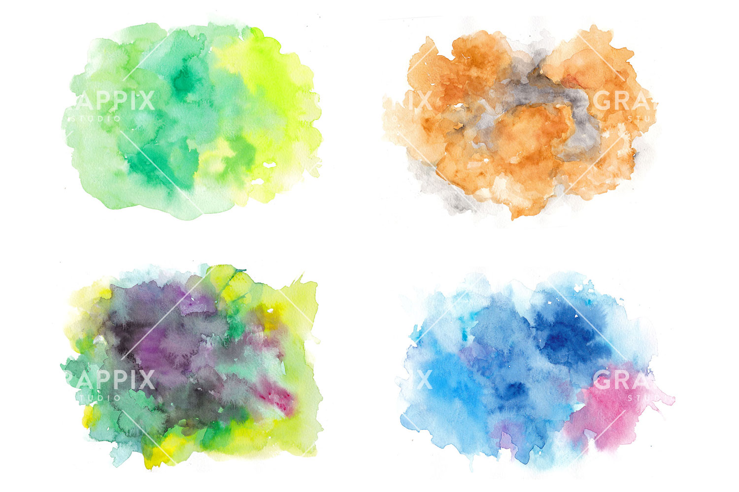 14 Abstract Colorful Watercolor Backgrounds example image 4