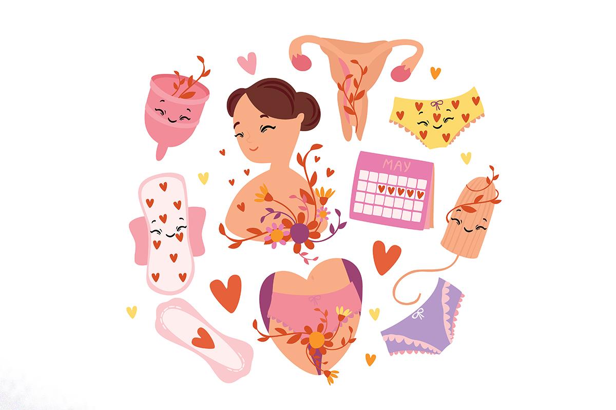 Menstruation. Gynecology. Female example image 2