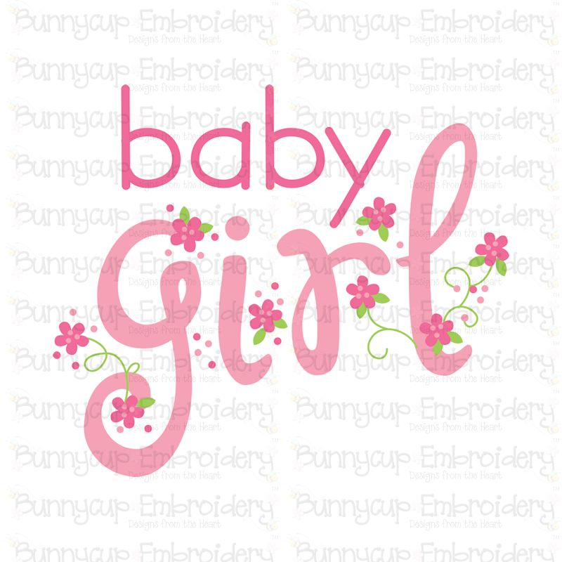 Baby Girl Sentiments- SVG, Cut Files, Clipart, Printables example image 2