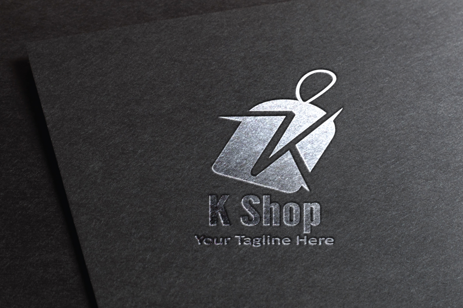 K letter sale tag logo example image 2