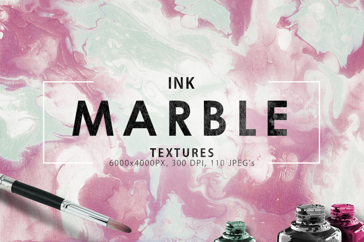 Only Ink & Marble Backgrounds Bundle example image 5