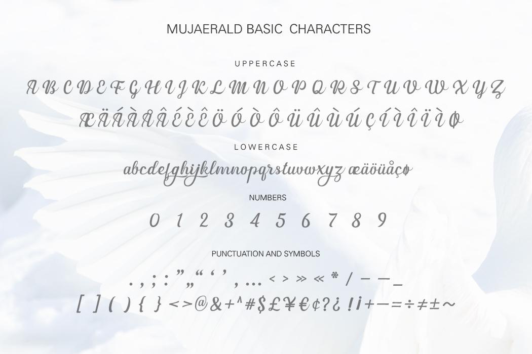 Mujaerald Font example image 9