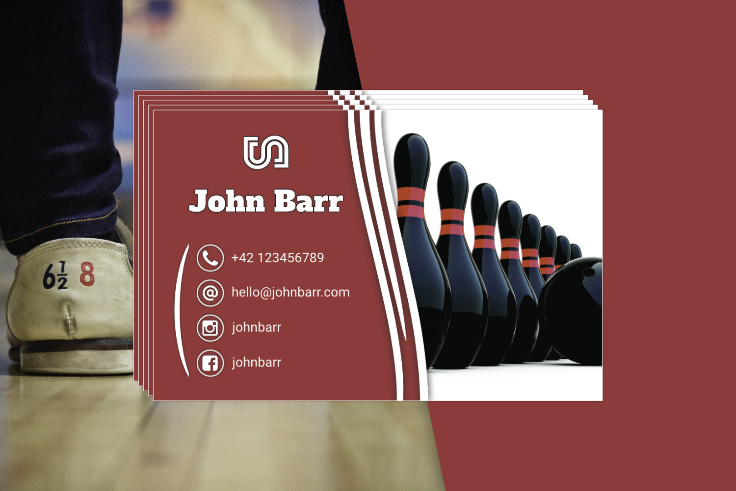 12 Sport Business Card Templates example image 10