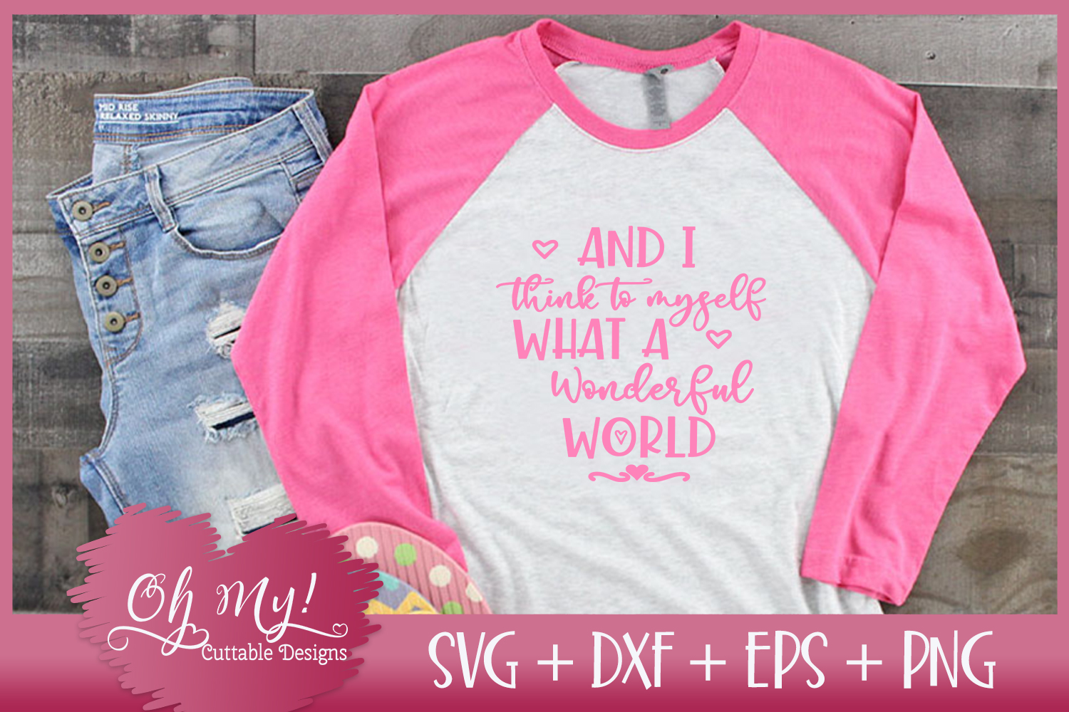 I Think to Myself What A Wonderful World - SVG DXF EPS PNG C example image 3