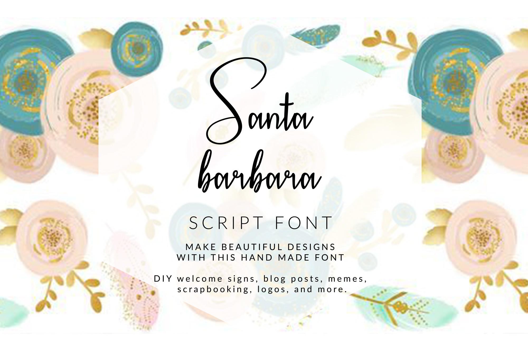 Santa Barbara Stylish Script Font example image 1