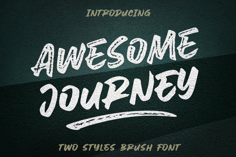 Awesome Journey Brush Font example image 1