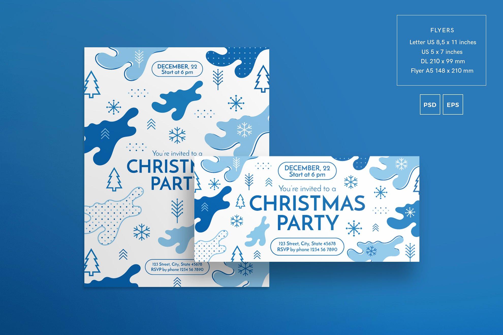 winter flyer poster design templates bundle sale