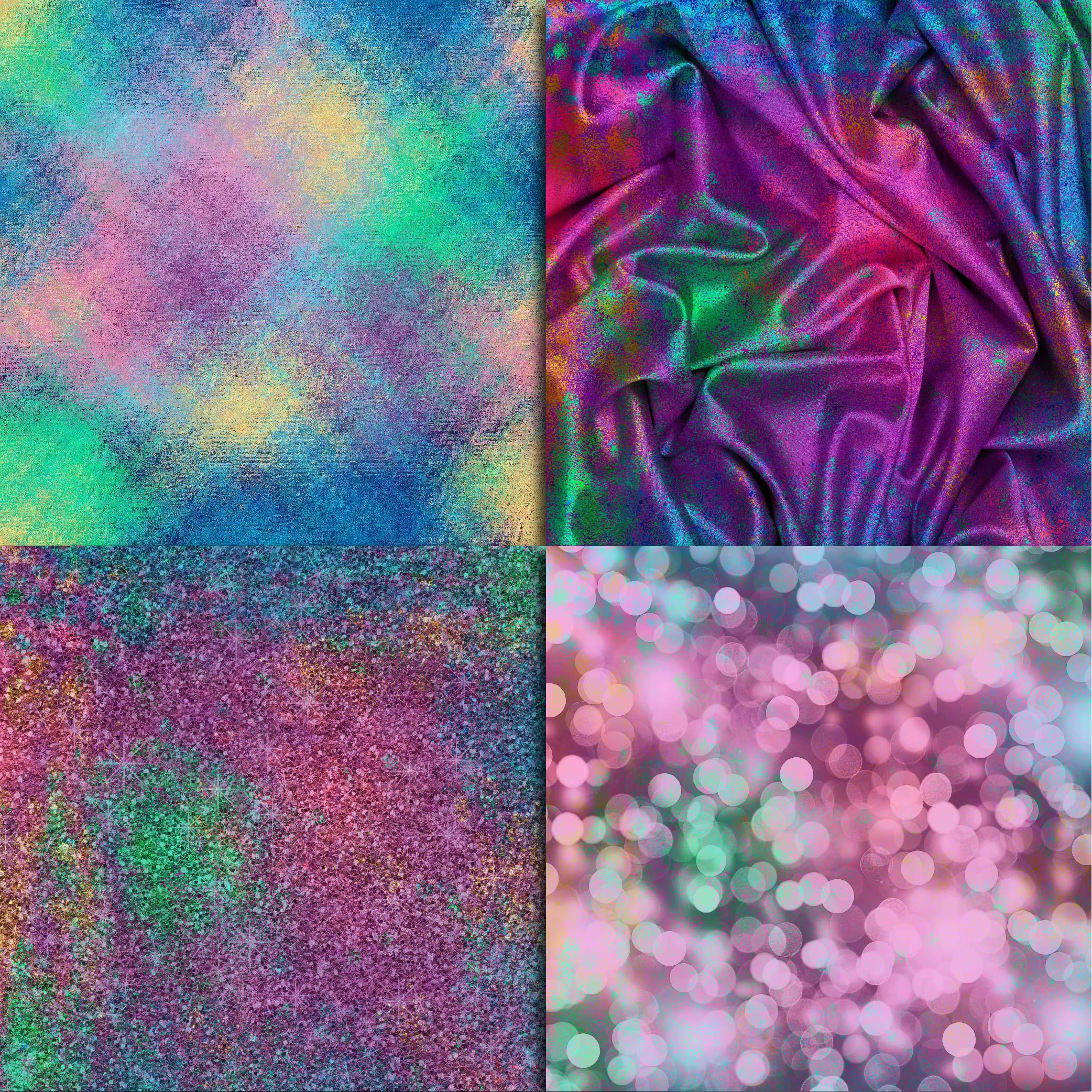 Mermaid Textures Digital Paper example image 5