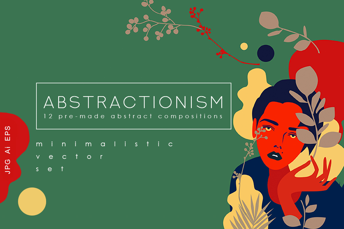 Abstractionism Graphic Set example image 1