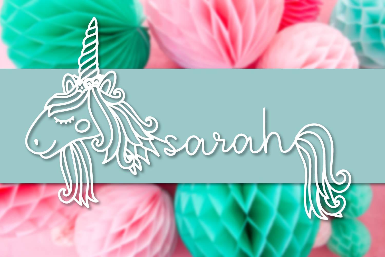 Unicorns - A Unicorn Name Maker Font example image 4