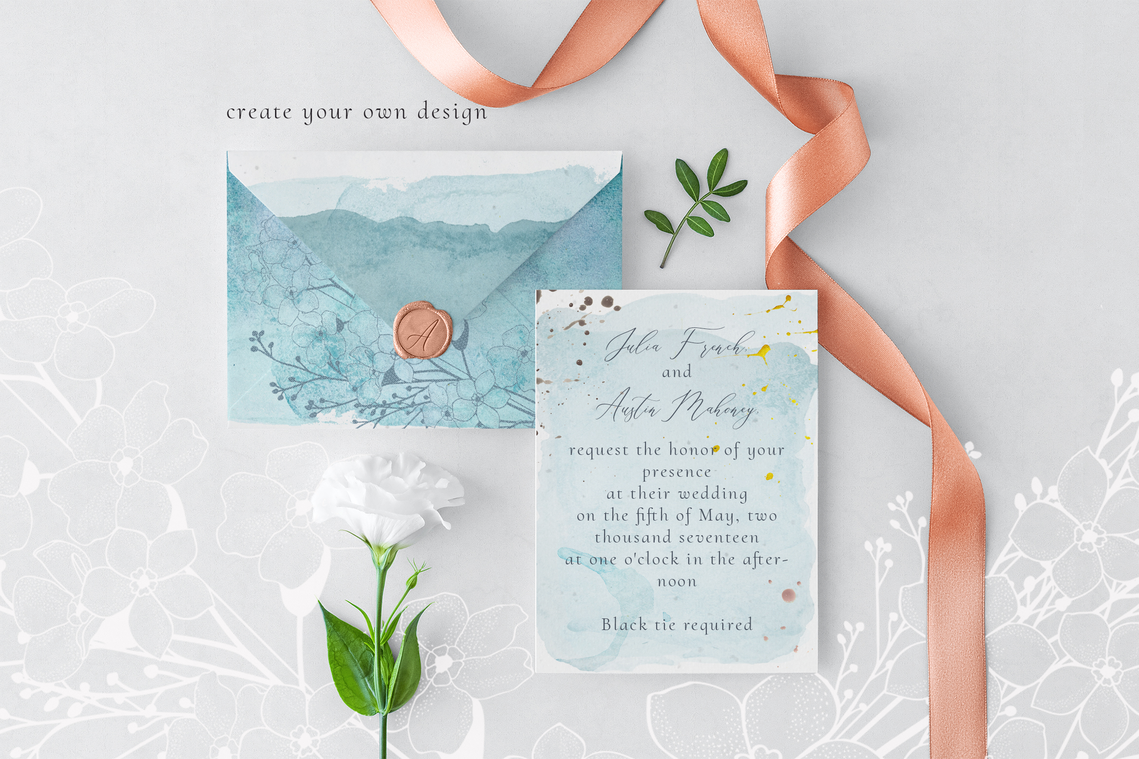 Flowered Monograms & Logo Collection example image 10