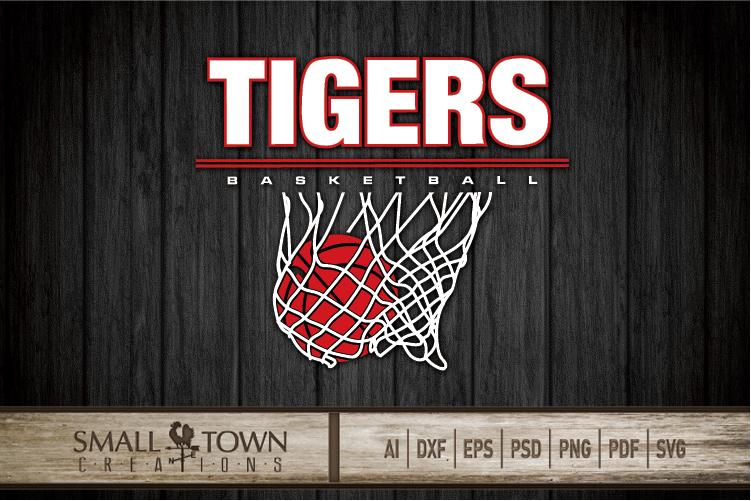 Tigers basketball, tiger mascot, team, PRINT, CUT, DESIGN example image 30