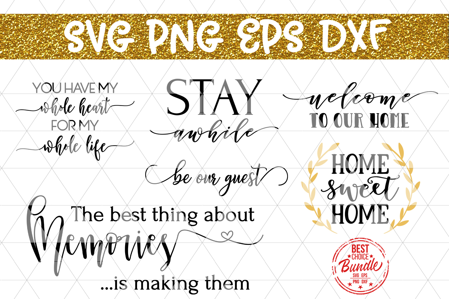 Home Bundle Svg File Home Decor Svg Wood Sign Sayings Dxf