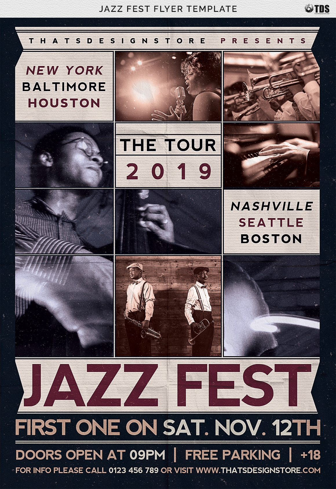 Jazz Fest Flyer Template example image 7