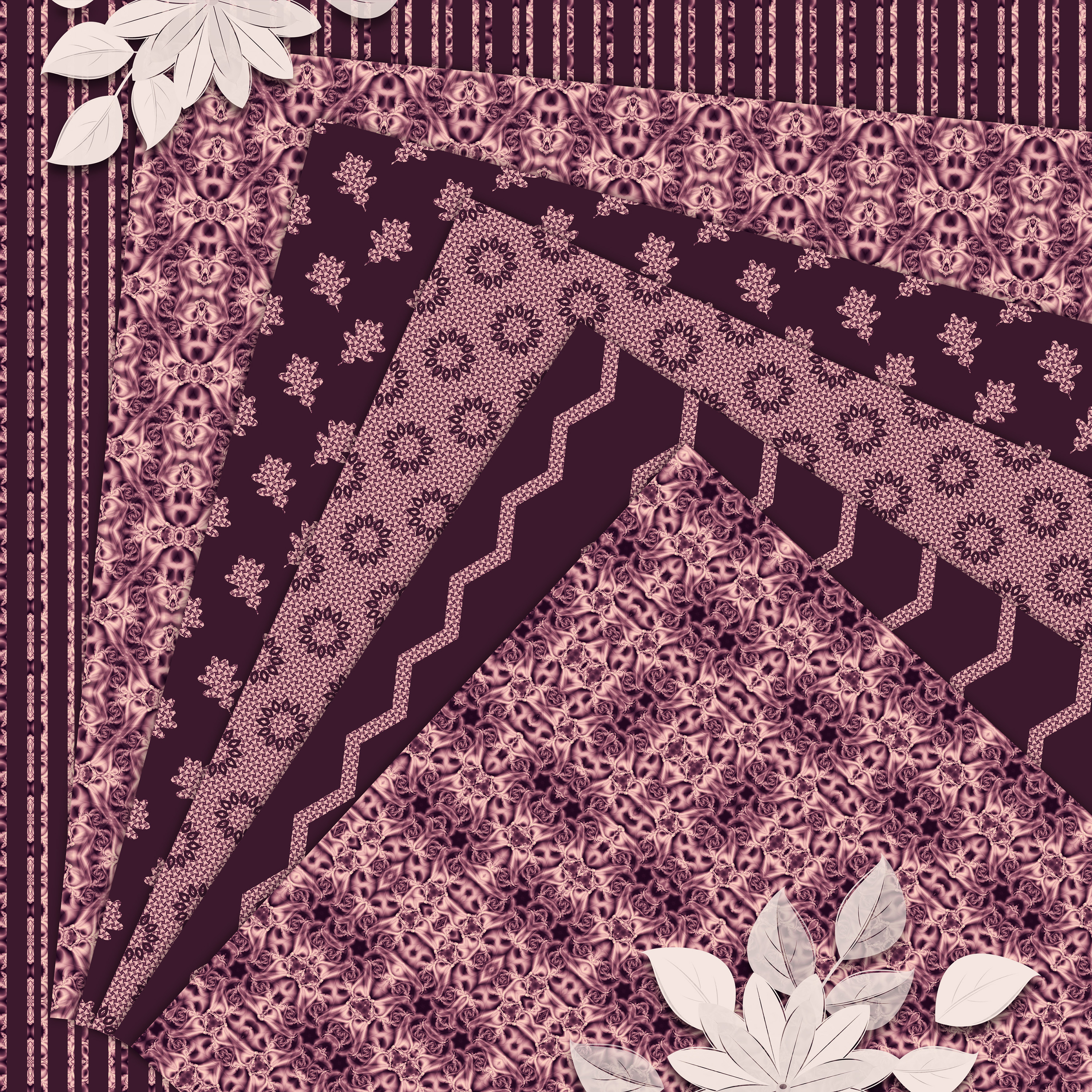 Burgundy abstract Scrapbook Paper example image 2
