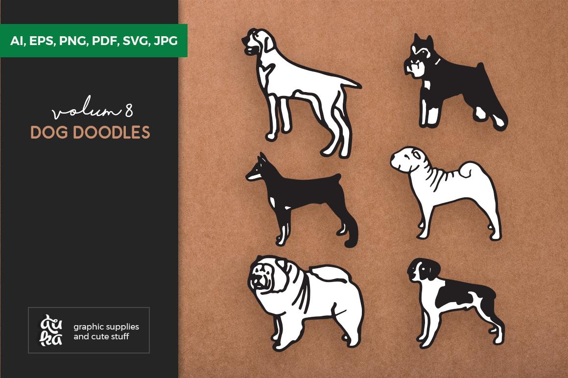 Dog Shapes SVG - Dog Doodles for Cricut example image 1