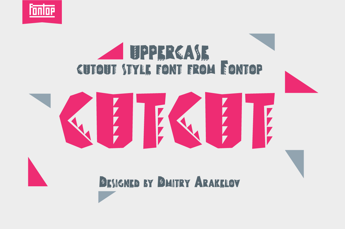 CUTCUT typeface example image 1