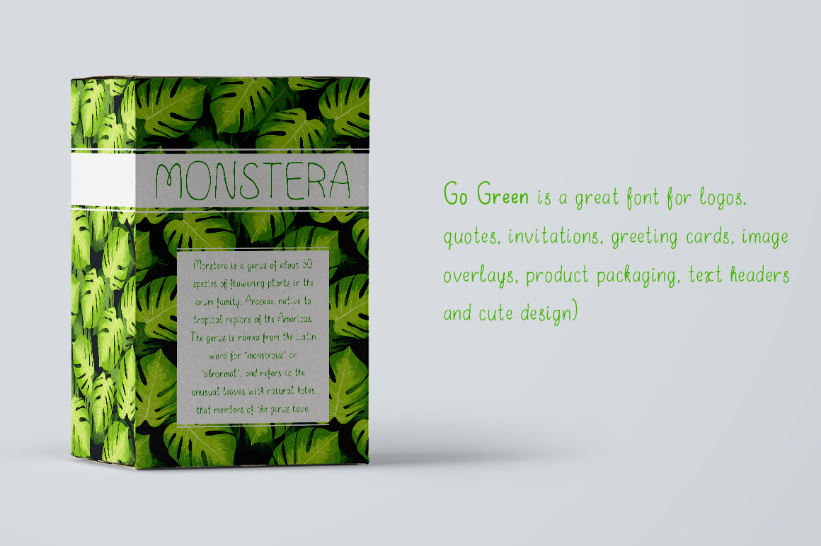 Go Green - handdrawn font example image 3