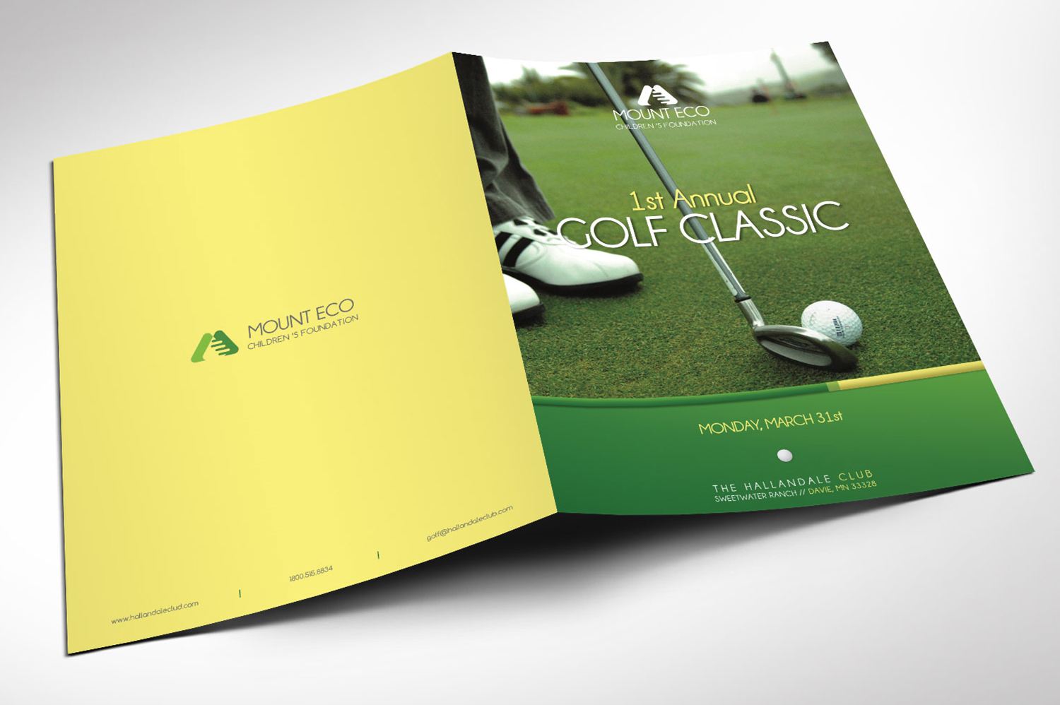 Charity Golf Booklet Publisher Word Template example image 2
