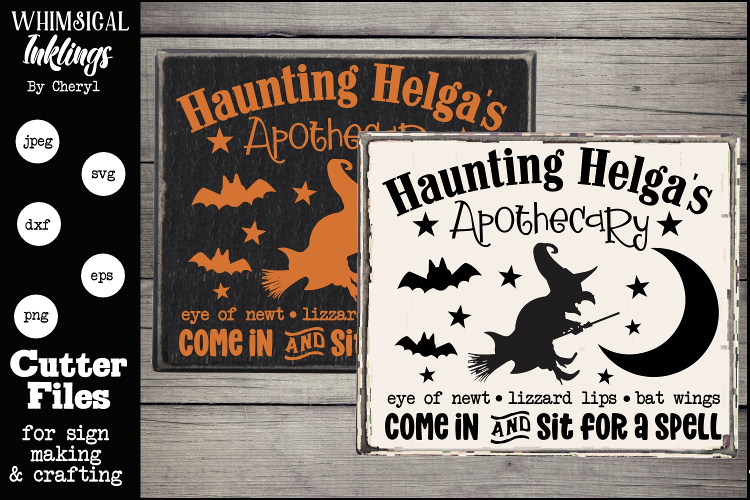 Haunting Helgas Apothecary-Halloween SVG example image 1