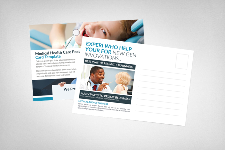 Medical Dental Care Health Postcards example image 2