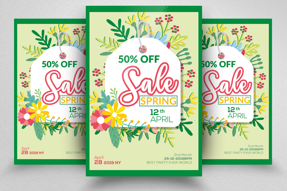 Spring Sale Offer Flyer Template example image 1