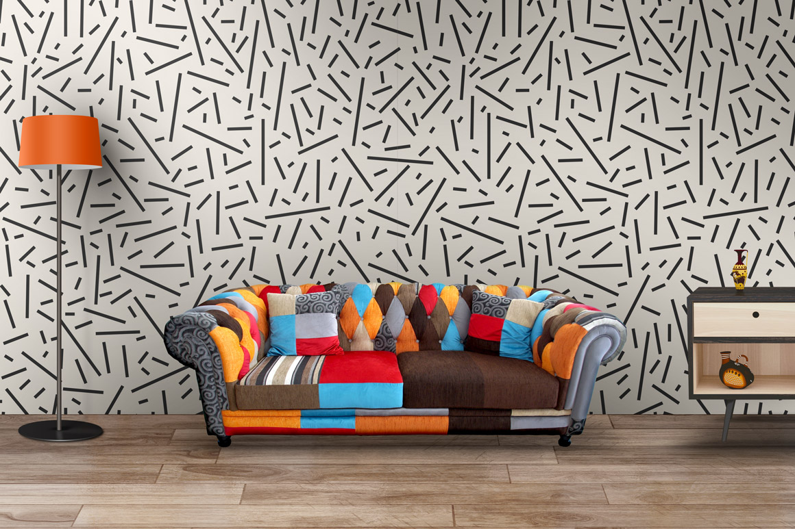 Memphis seamless patterns. example image 4