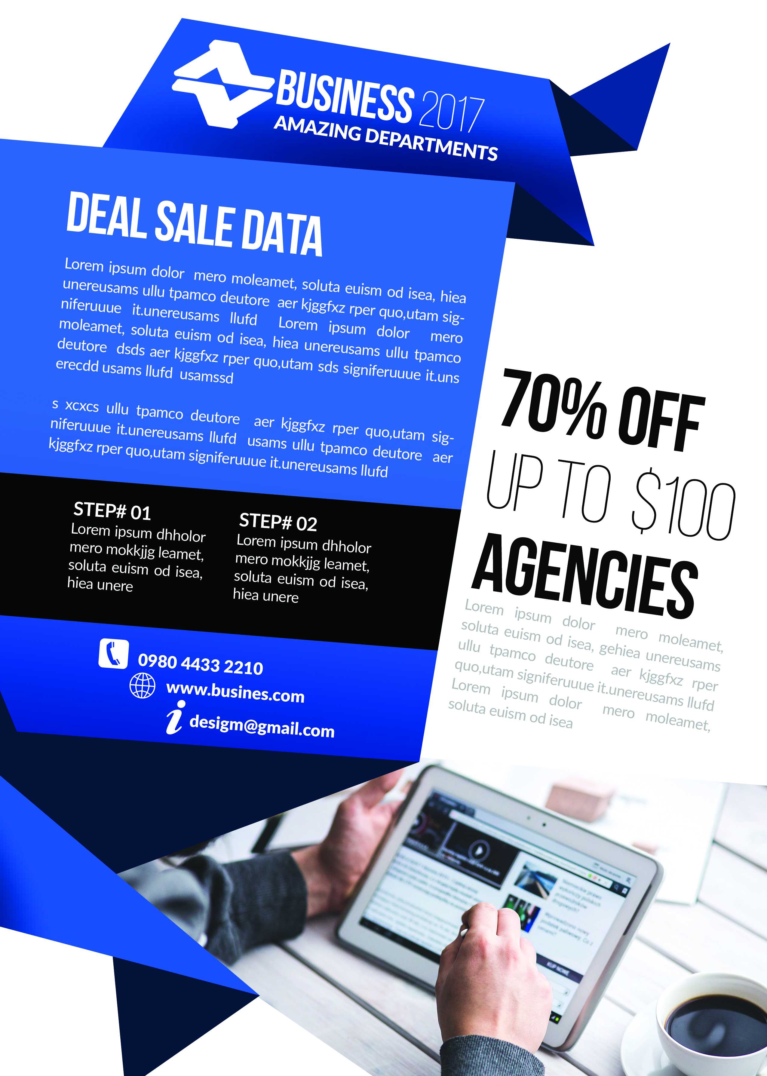 IT Technology Computer Flyer Template example image 3