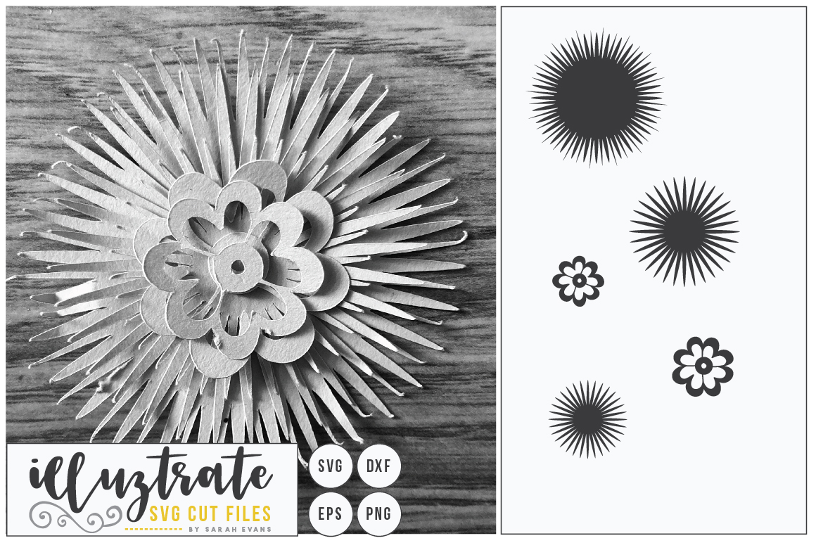 Paper Flower Template Bundle | Paper Cutting Bundle SVG example image 10