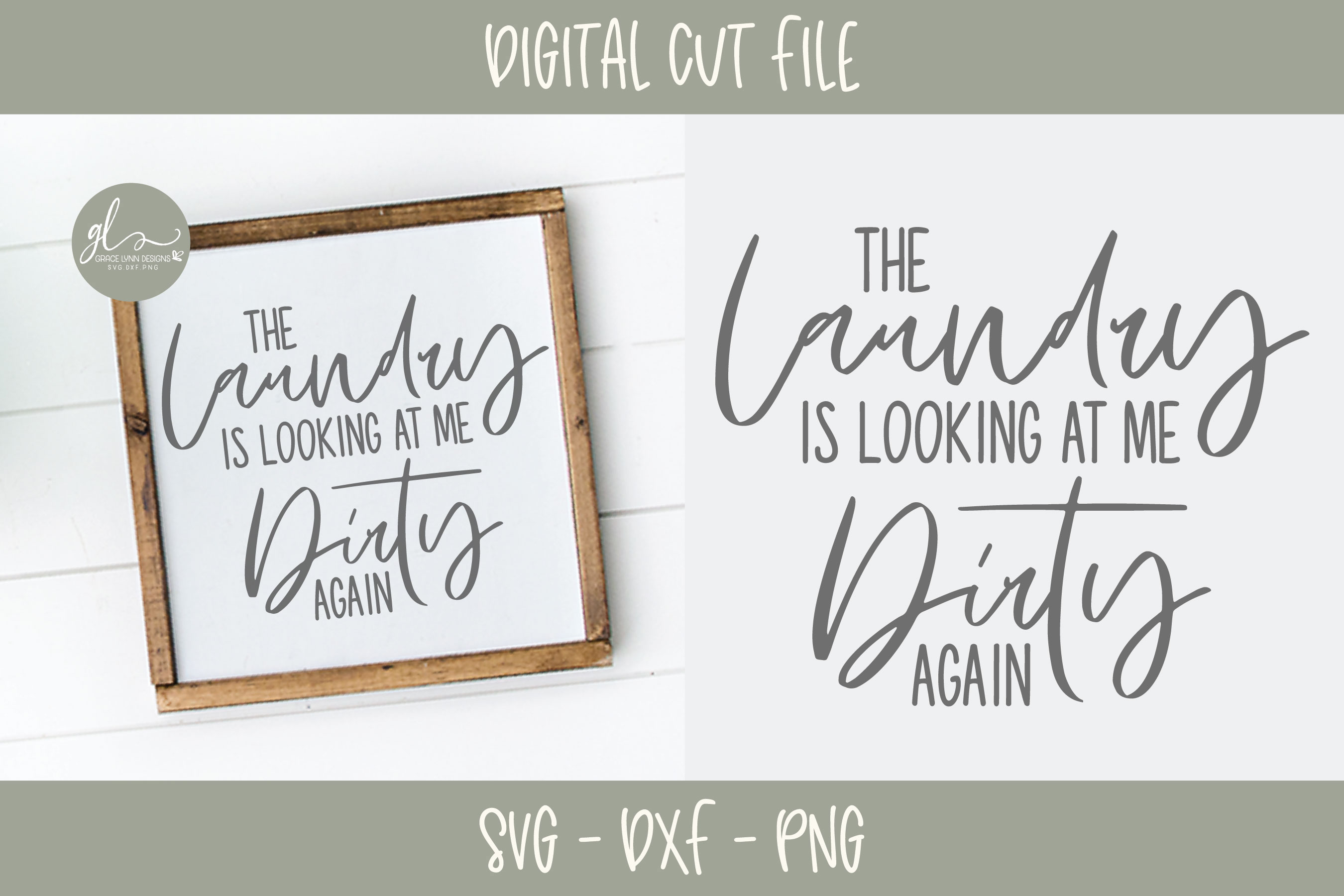 Laundry Sign Bundle - 20 Designs - SVG Cut Files example image 15