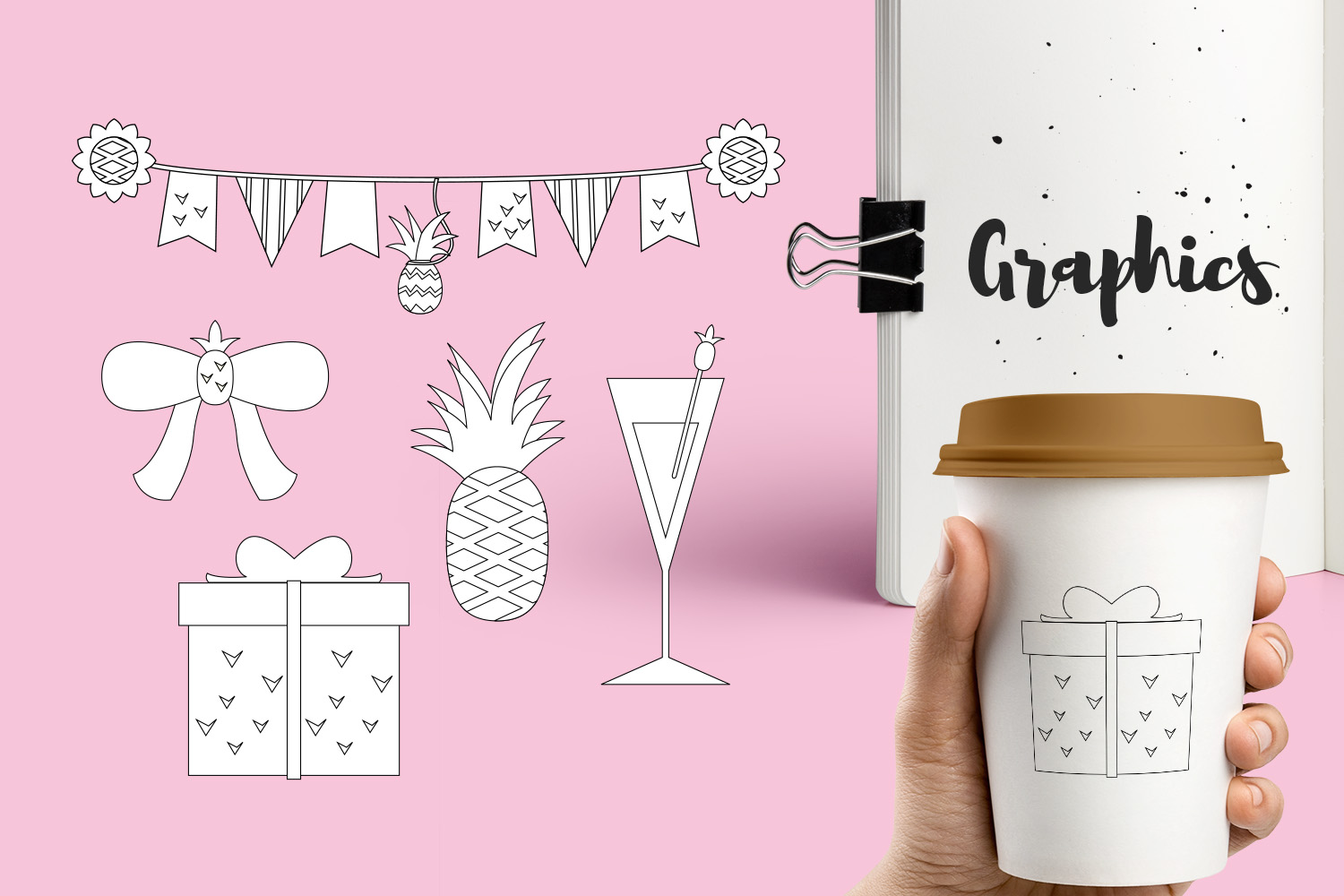 Pineapple Party Illustrations Bundle example image 6