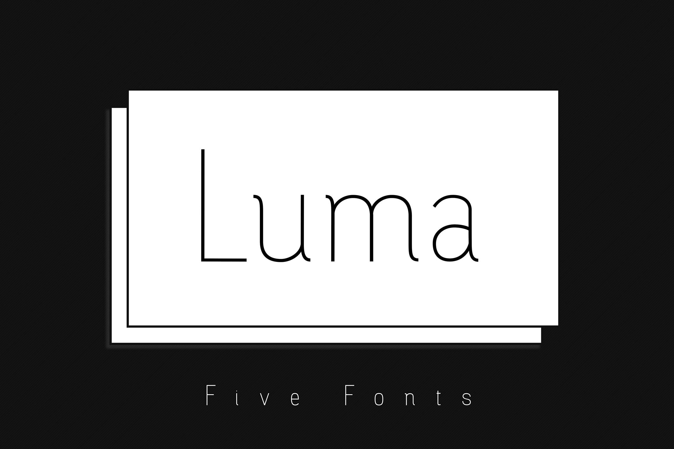 Luma - Thin Font example image 10