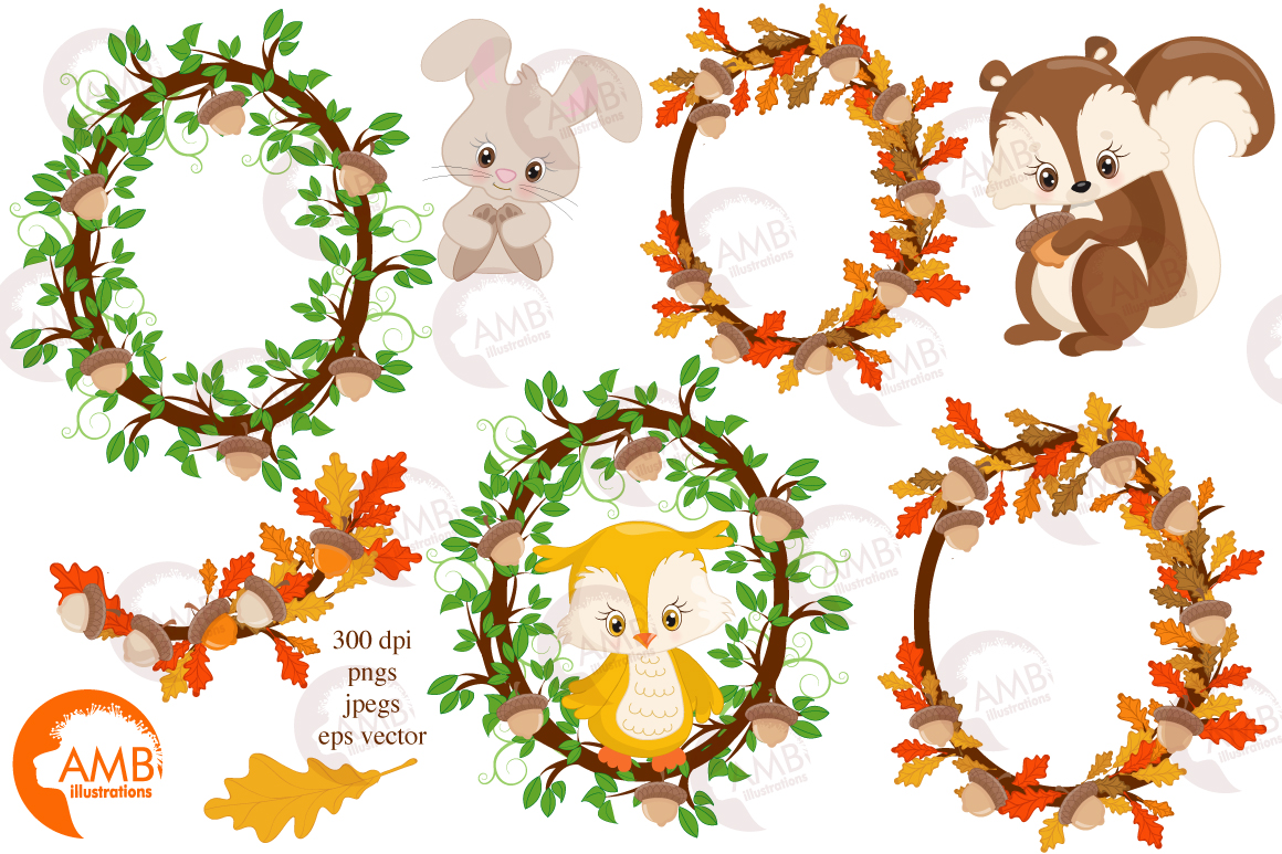Woodland Critters clipart, graphics and illustrations AMB-1178 example image 6
