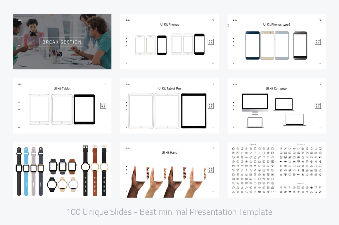 XOXO-Minimal Powerpoint Template example image 12