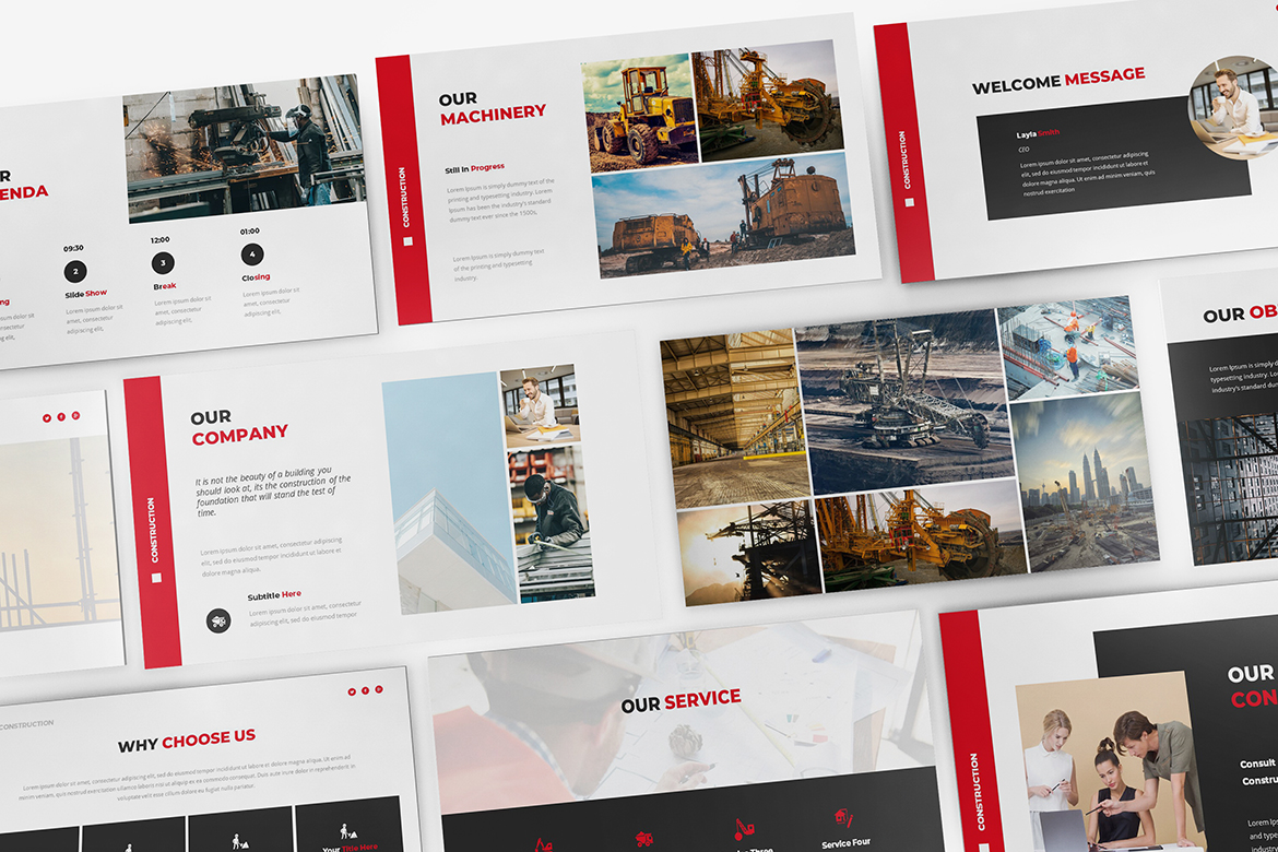 Construction Powerpoint template example image 6