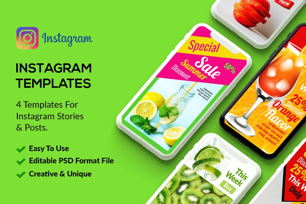 4 Instagram Stories - Summer Juice example image 1