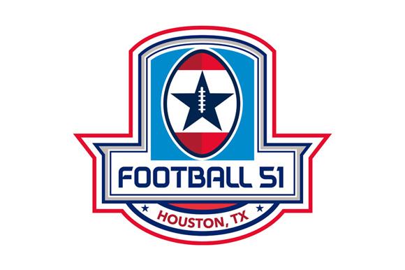 Houston American Football 51 Stars Crest Retro example image 1