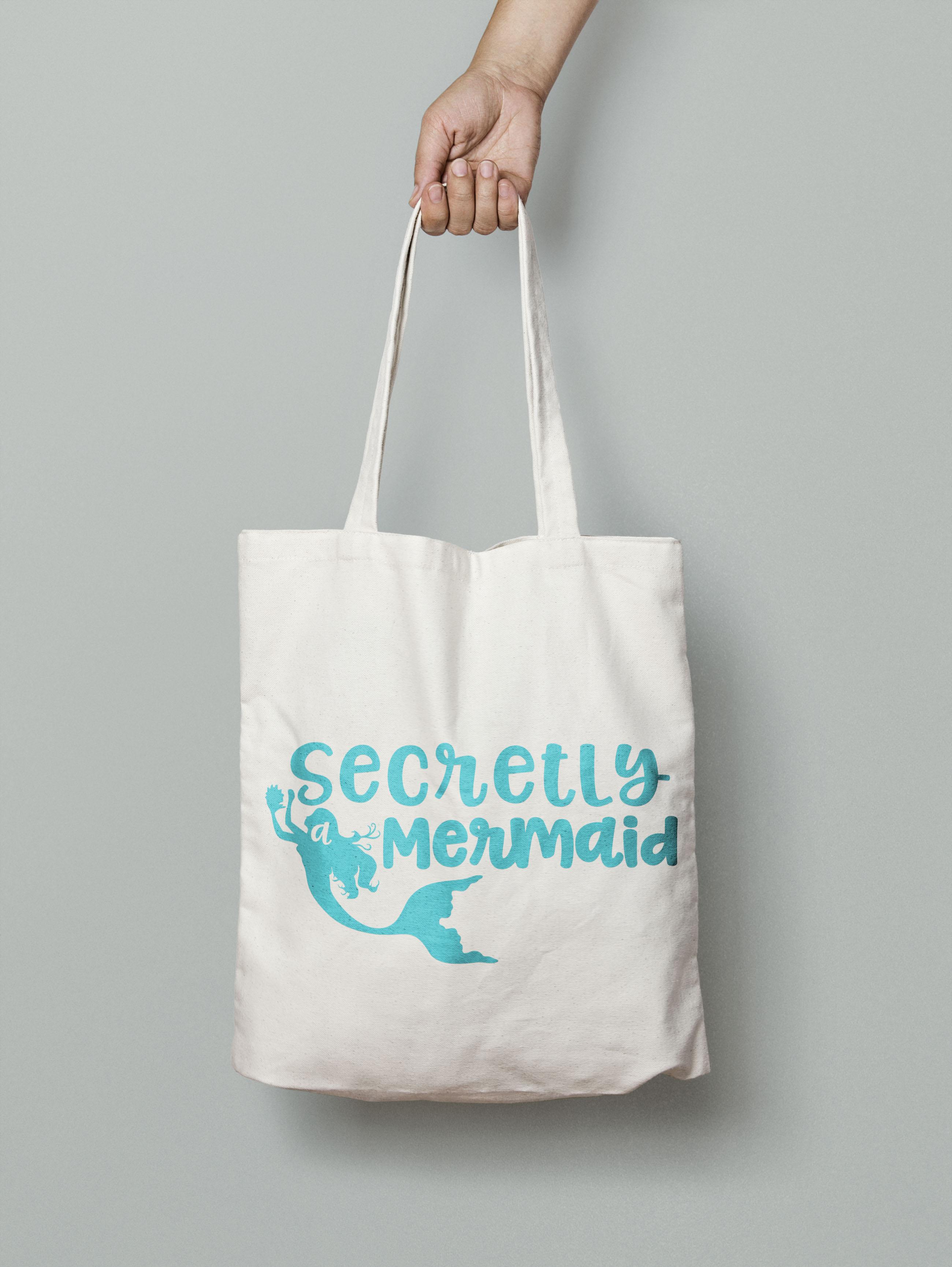 Secretly a Mermaid svg digital cut file Mermaid Love example image 3